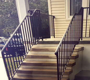 Front Steps with Iron Railings